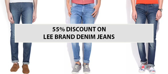 55% Off Discount on LEE Brand Denim Jeans