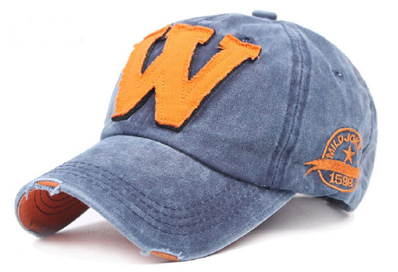 Orange Blue denim Summer Cap Online India