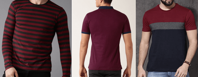 5 Most Popular Maroon T-shirts Outfits Ideas for Men 2018