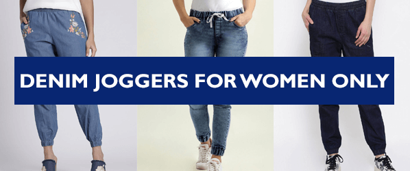 DENIM JOGGERS FOR WOMEN INDIA