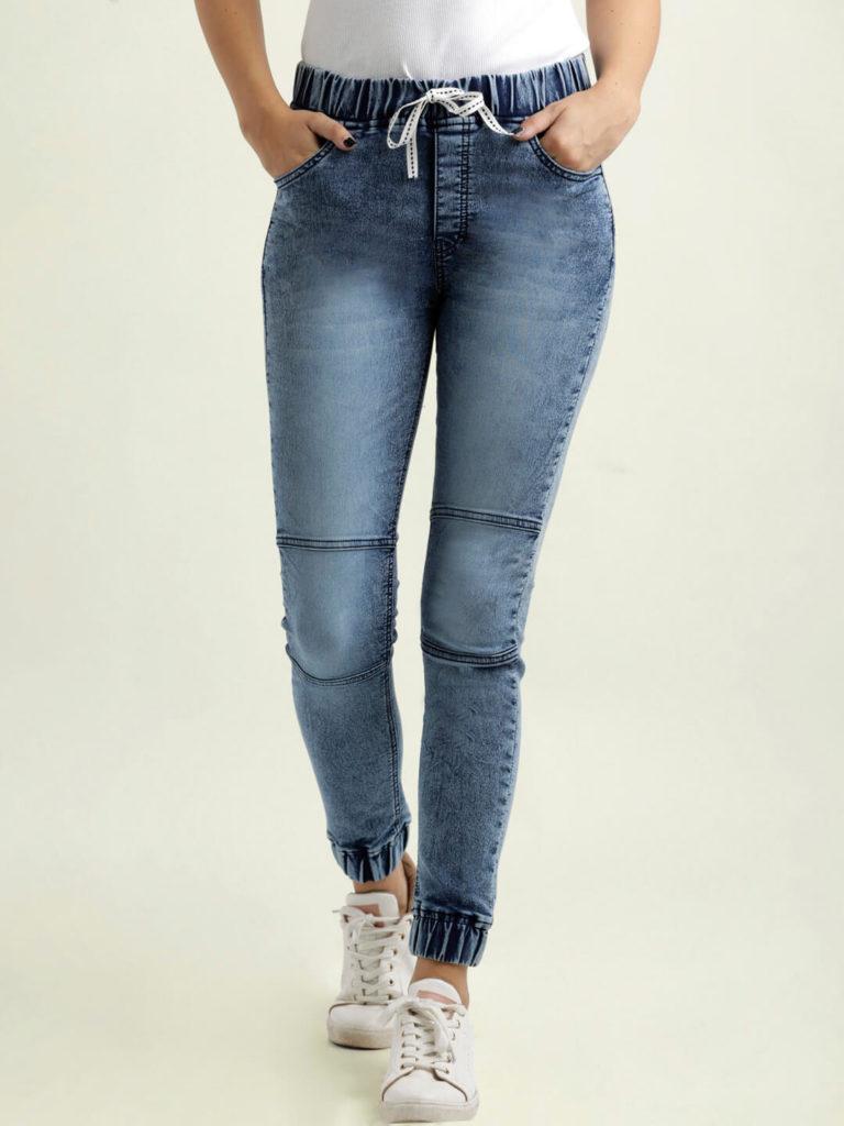 Miss Chase Women Blue Regular Fit Solid Denim Joggers women