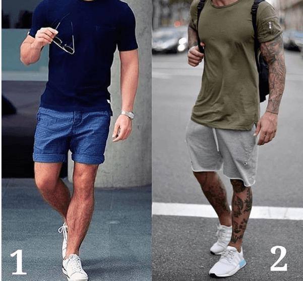 Tshirt Short White Sneakers Style