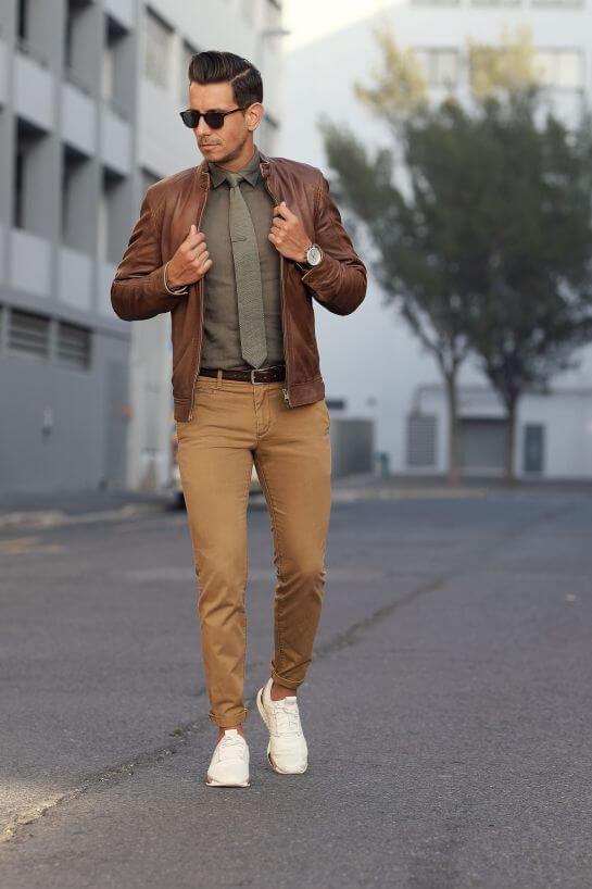 White Sneaker Style with blazer