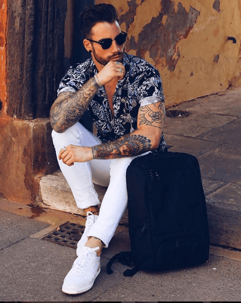 White Sneakers Travel Outfit