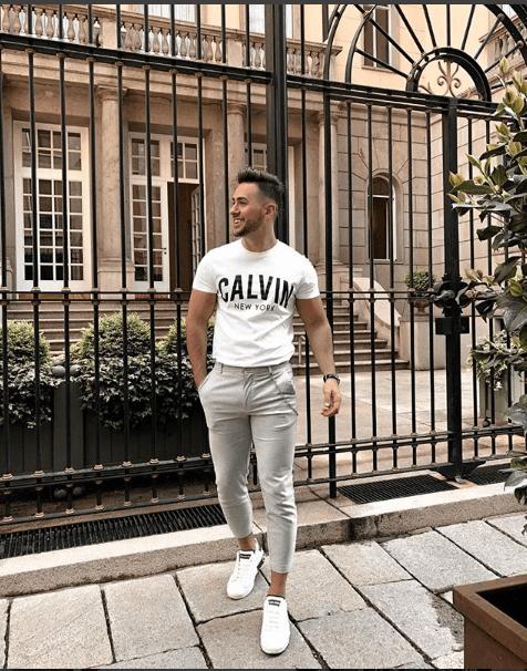White Sneakers Trouser White tshirt style
