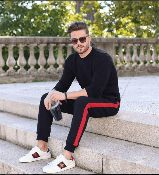 White Sneakers with Gym outfit