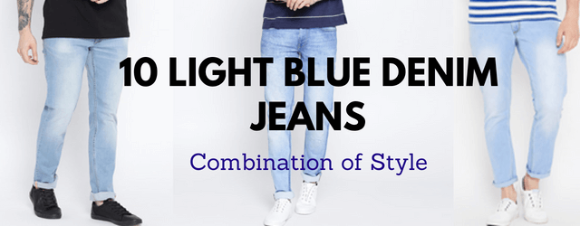 10 Best Light Blue Jeans Combination Outfit For Men In 2018