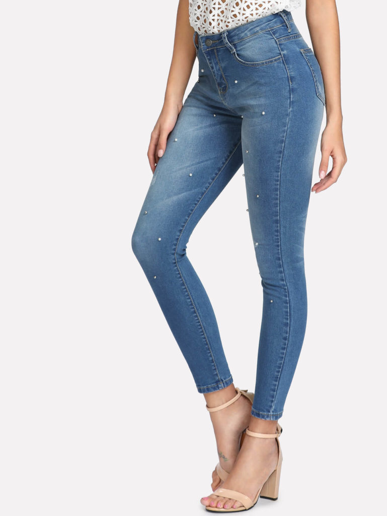 Beaded Skinny Jeans clearance sale offer