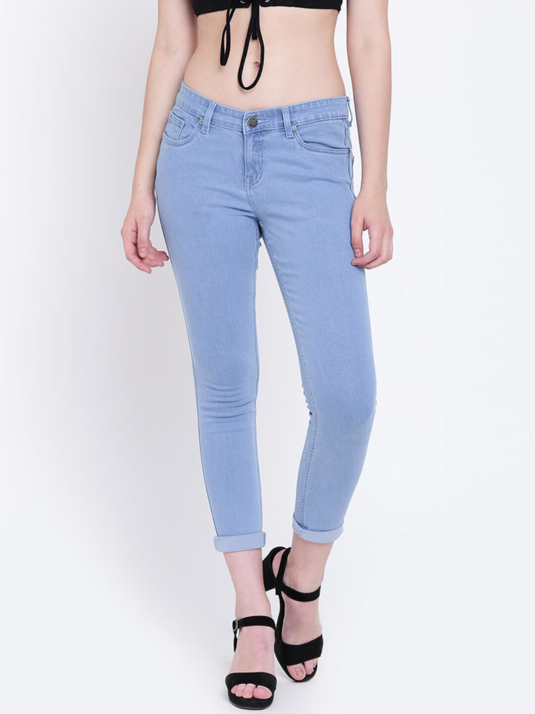 High Star Women Blue Slim Fit Clean Look Jeans