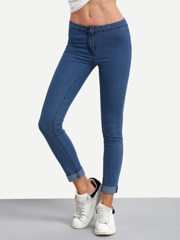 High Waist Denim Slim Pant Clearance Offer Online