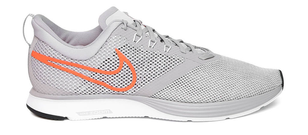 Grey white nike running shoes for men