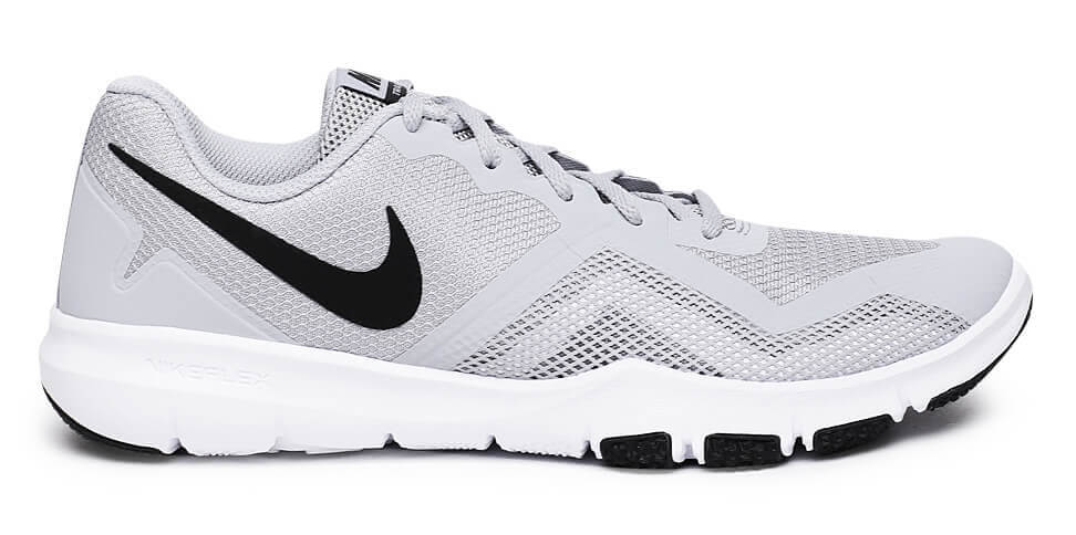 Mens White Grey Flat Feet Running