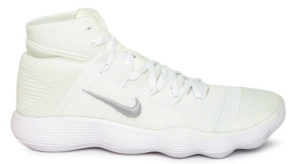 Nike Men White Canvas High Top Basketball Shoes