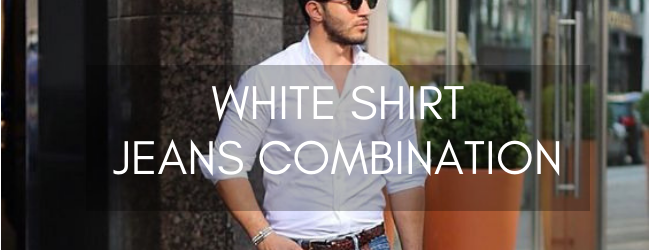 WHITE SHIRT JEANS COMBINATION
