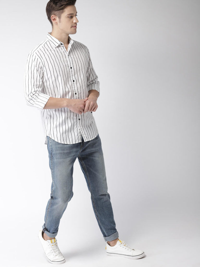 men photoshoot poses white shirt combination
