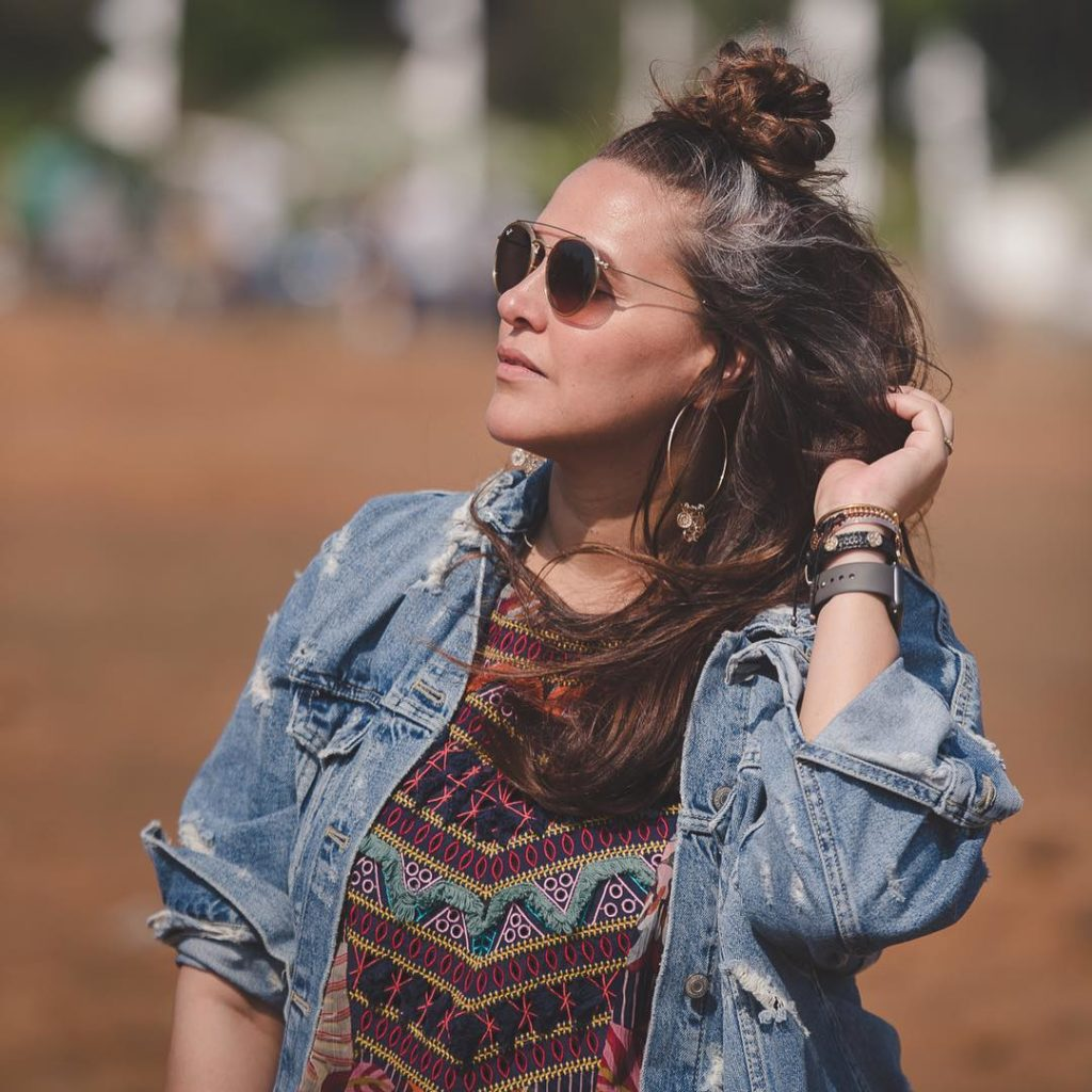 Neha Dhupia Roadies Denim jacket