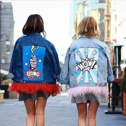 Denim Jacket With Print On The Back
