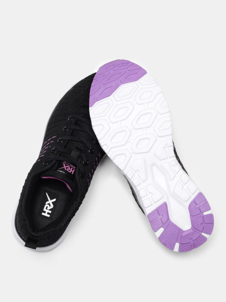 HRX Black and white women running shoes | Running Women Shoes Style
