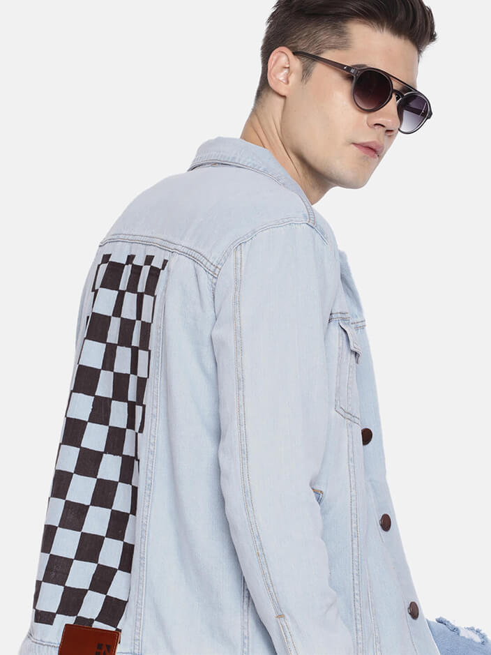 PRINTED DENIM JACKET FOR MEN