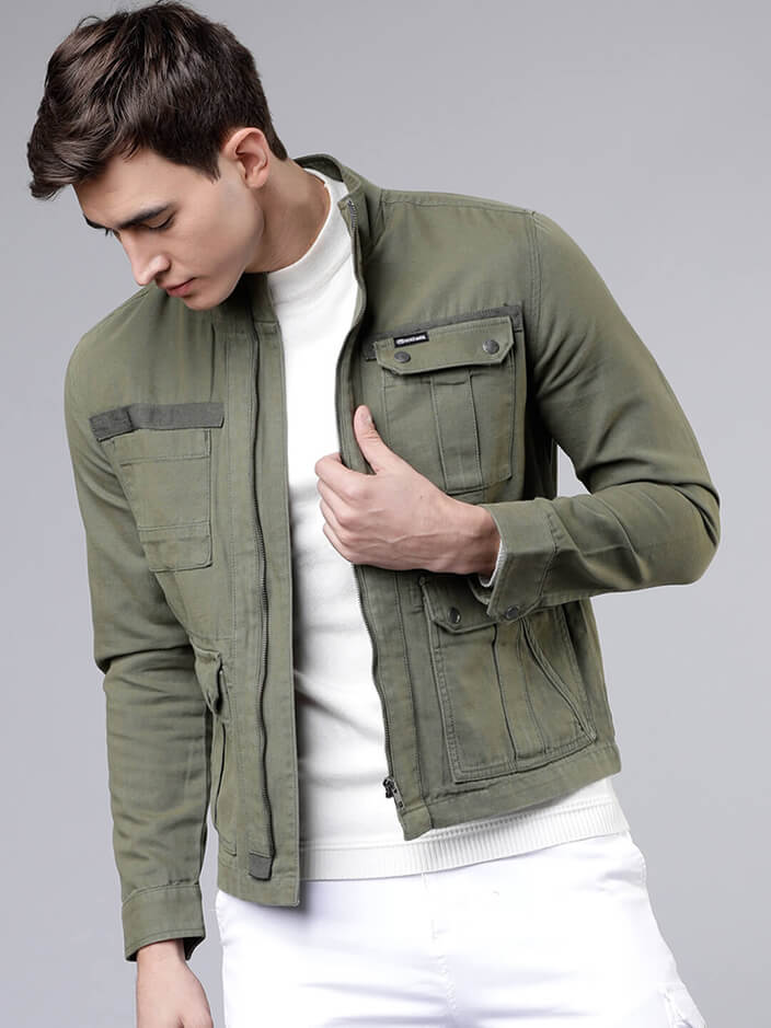 COTTON DENIM JACKET FOR MEN