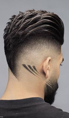 Comb over faded with line design gents hair cut style | latest fade cut style 2020