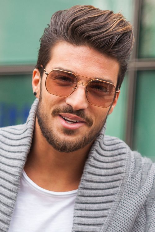 stylish look men hairstyle