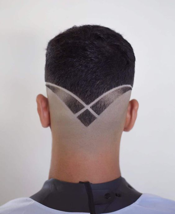 Neckline V Shaped Gents Hair Cut Design
