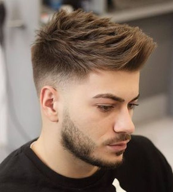 Low Faux Hawk Faded Gents Haircut