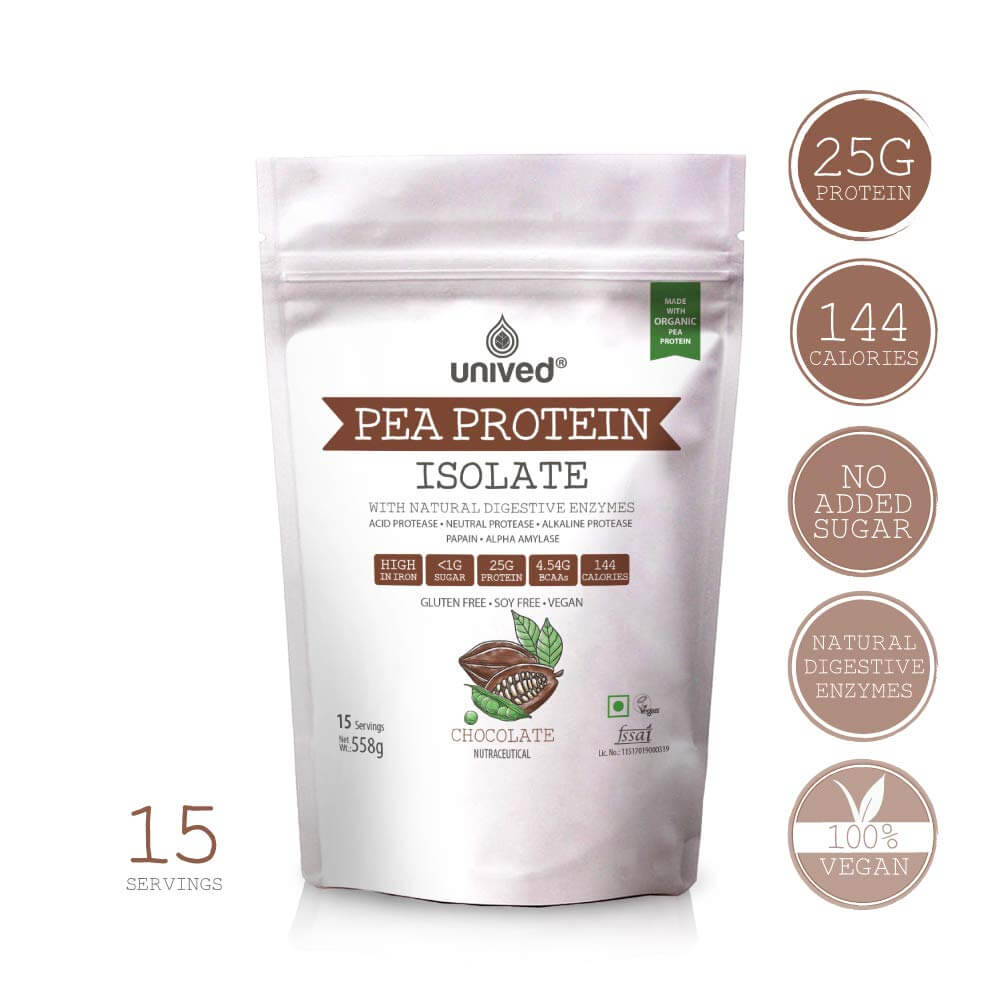 Unived Organic Pea Protein Isolate with Natural Digestive