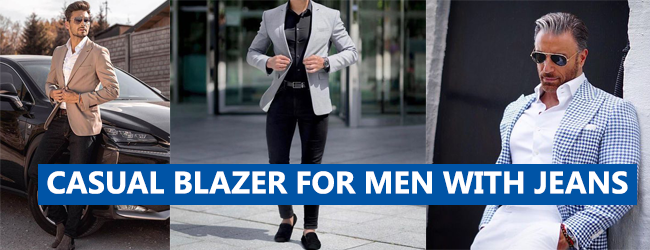 CASUAL BLAZER FOR MEN WITH JEANS