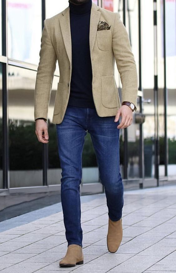 CASUAL BLAZER FOR MENS WITH JEANS