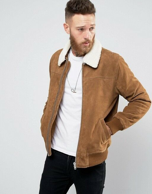 WINTER JACKET WITH SUEDE STYLE