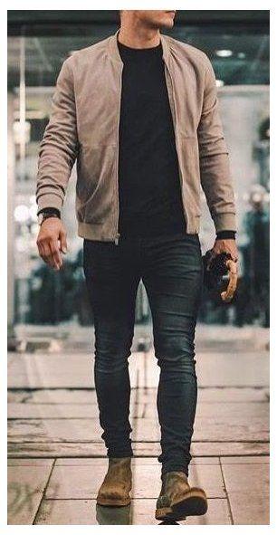 sand suede jacket for men