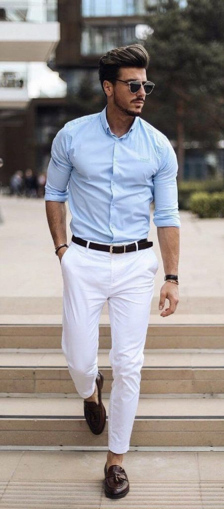 Shirt with color what pants blue How To