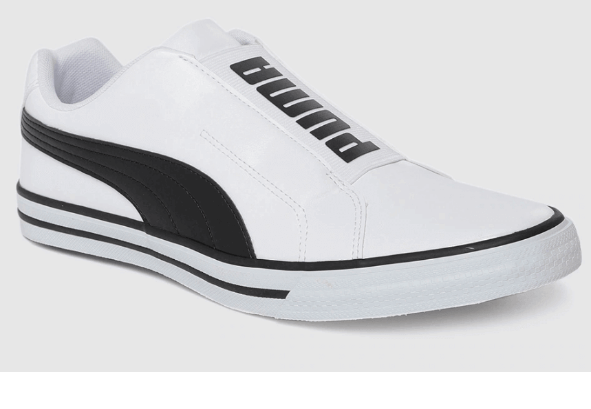 white and black casual sneakers shoes   best casual shoes for men    Puma black and white casual sneaker shoe