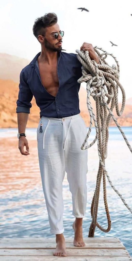 Beach Shirt And Pant For Men