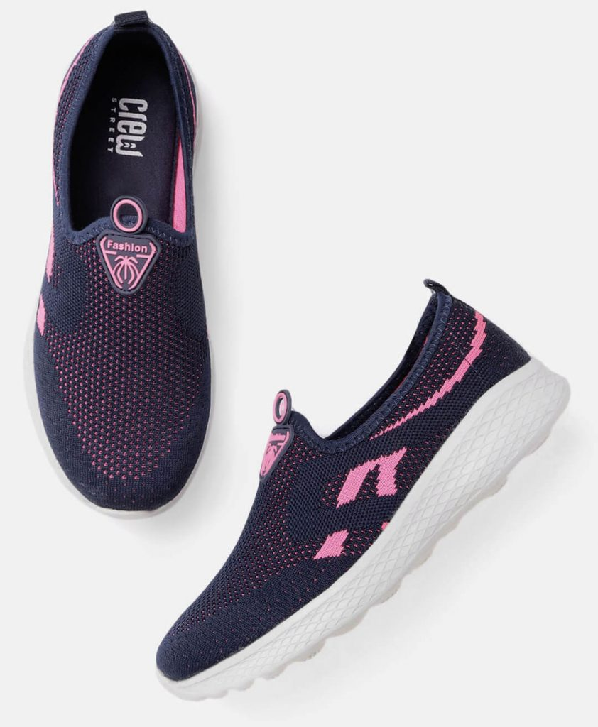 Crew Blue Pink Workout Shoes For Women