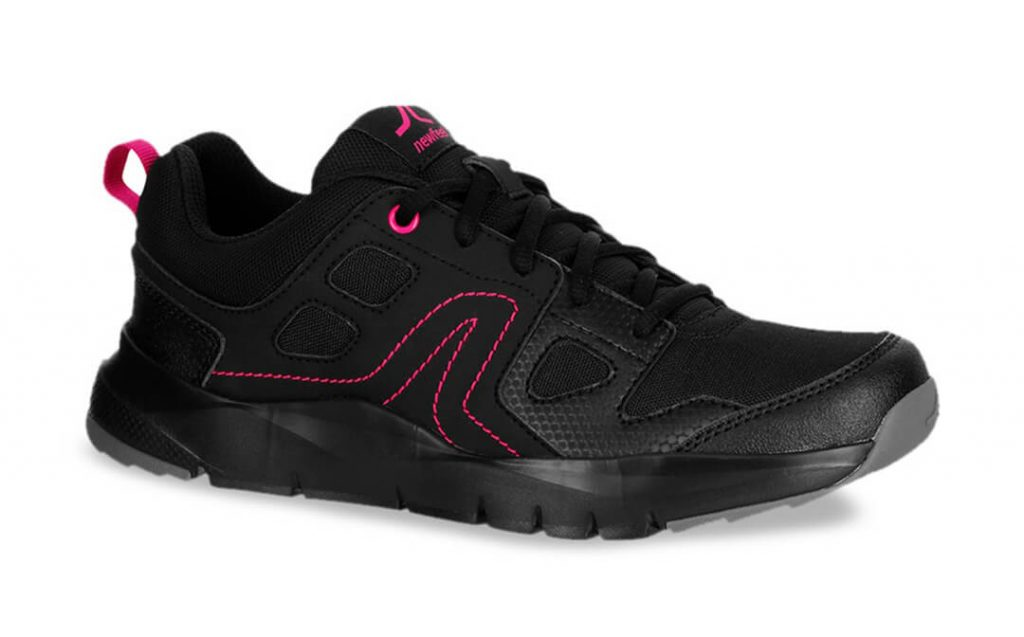 Newfeel Black Running Workout Shoes For Women