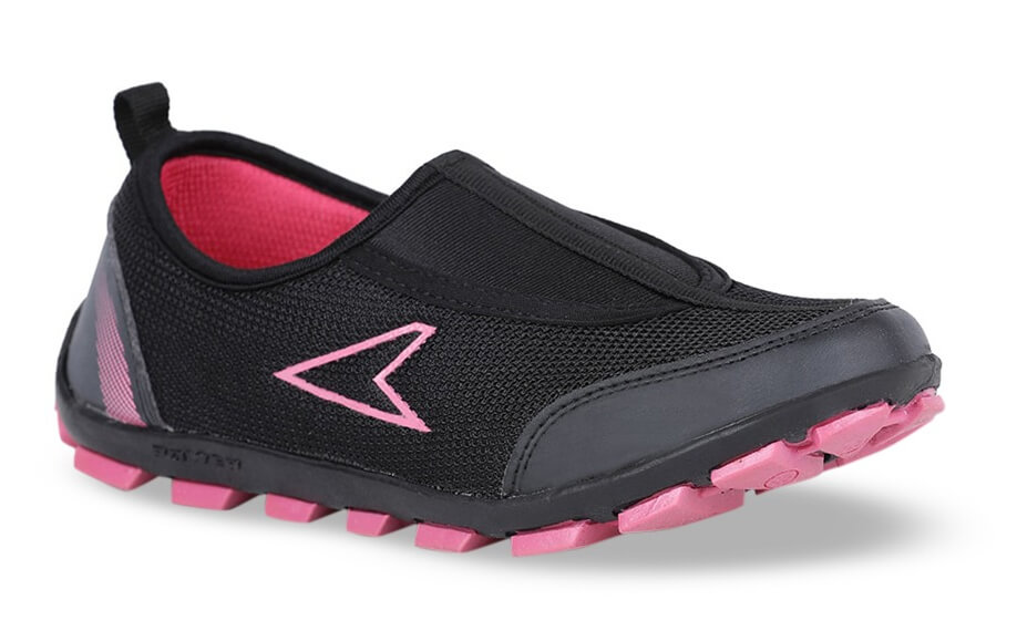 Power Black And Pink Running Shoes